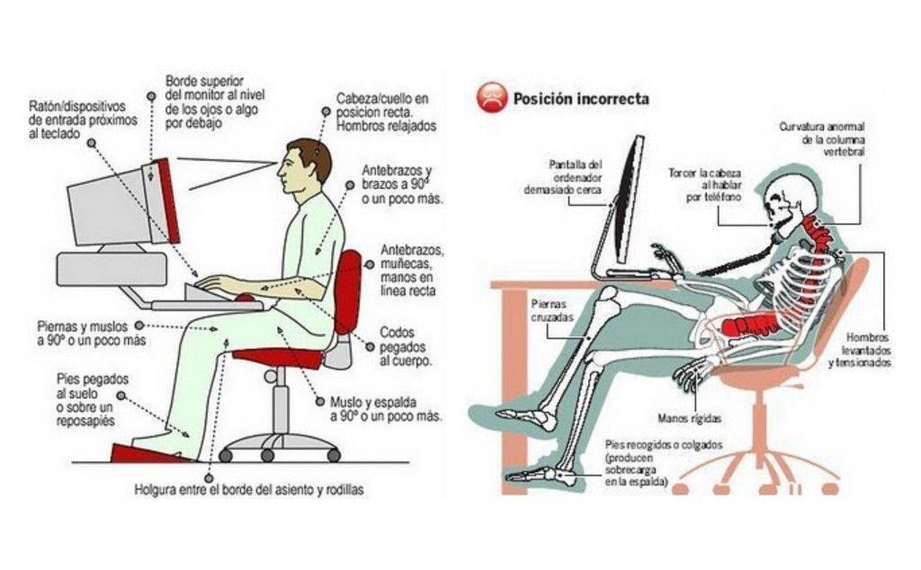 Como sentarse correctamente y ergonom a postural en la oficina - Sillas para la espalda ...